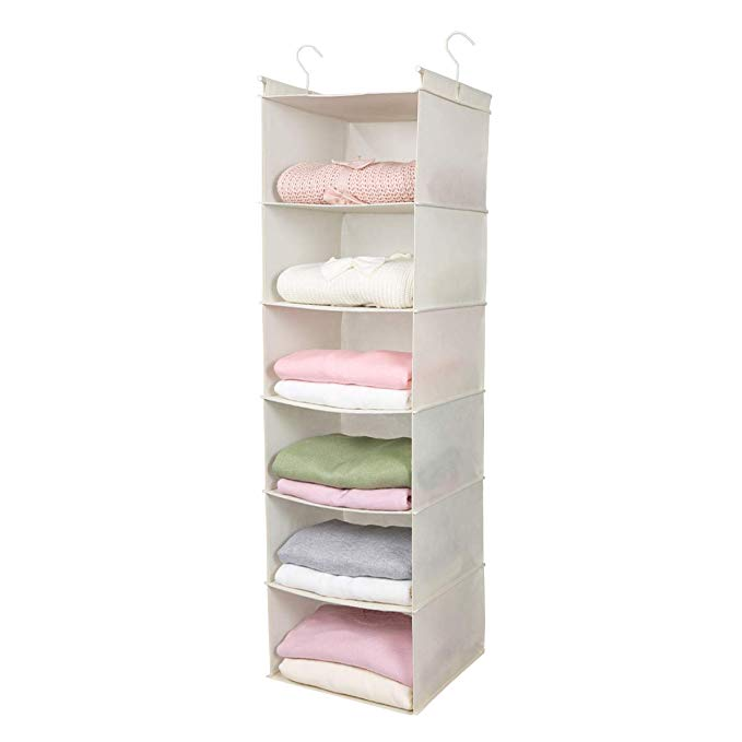 Amazon Com Max Houser 6 Tier Shelf Hanging Closet Organizer