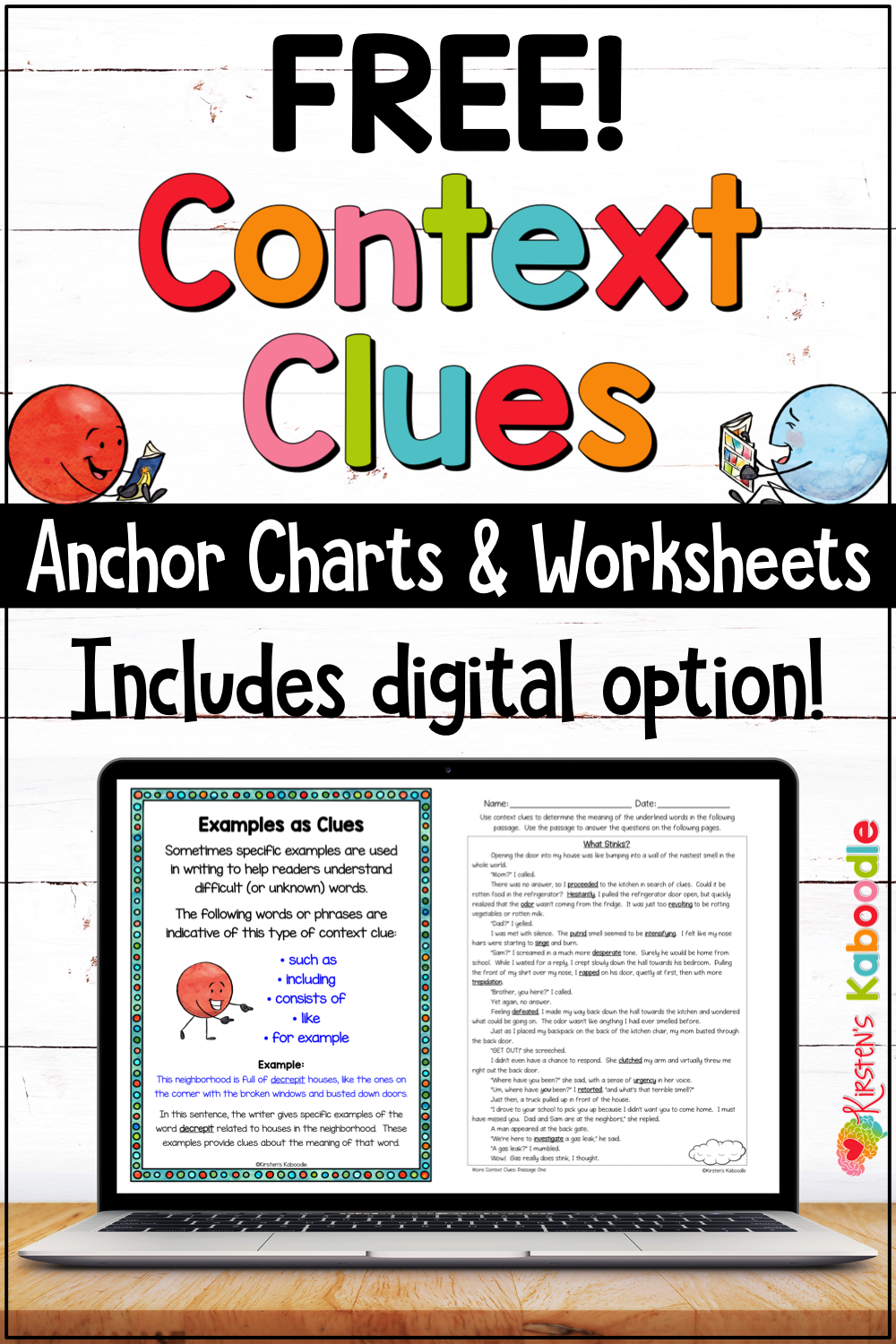 Opt In Landing Page For Frl General Pins Context Clues Worksheets Context Clues Context Clues Anchor Chart [ 1500 x 1000 Pixel ]