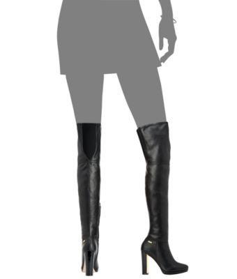 64f62f2c9f5 Calvin Klein Women s Pammie Over-The-Knee Boots - Black 9.5M