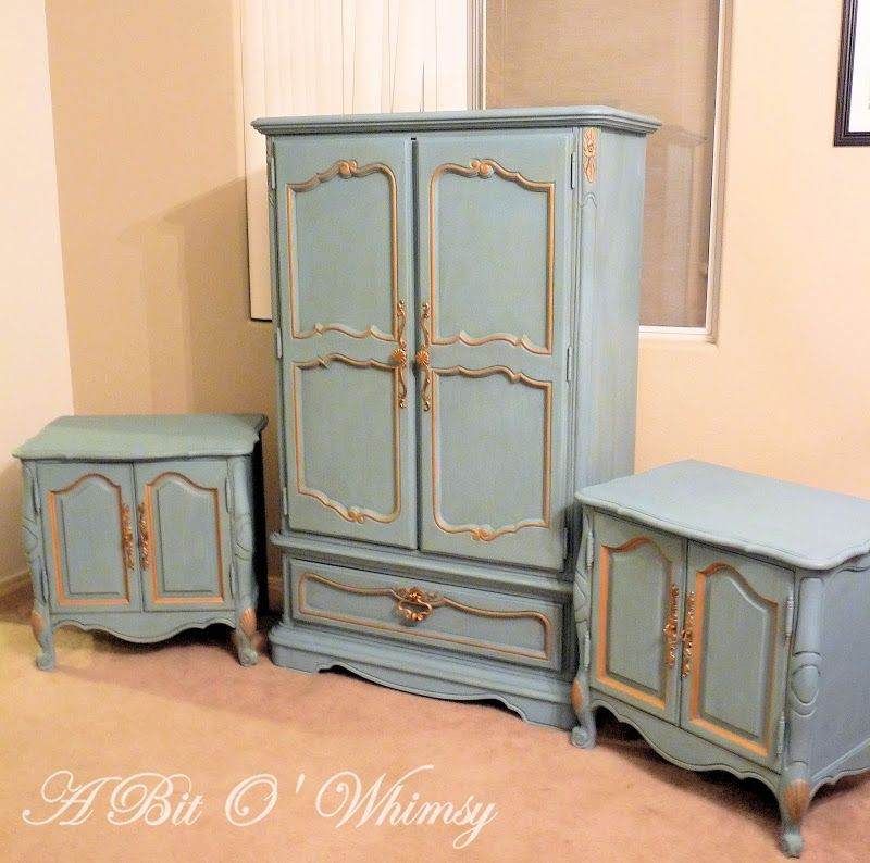 Glamorous French Bedroom Set In Blue And Gold At A Bit O Whimsy Unique French Bedroom Set 2018