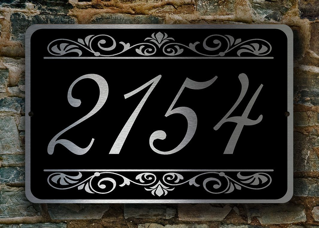 Custom House Numbers Sign Outdoor Address Signs Custom Address