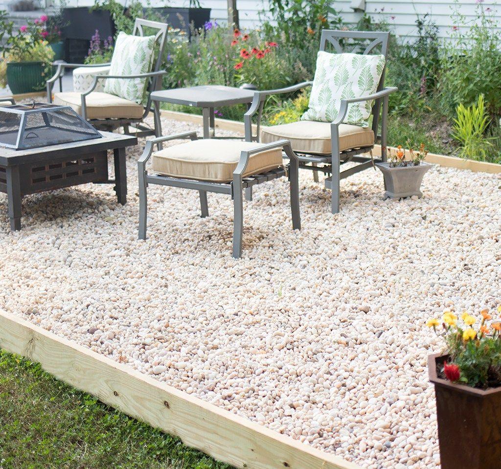 Pea Gravel Patio DIY | Gravel patio diy, Diy patio, Pea ...