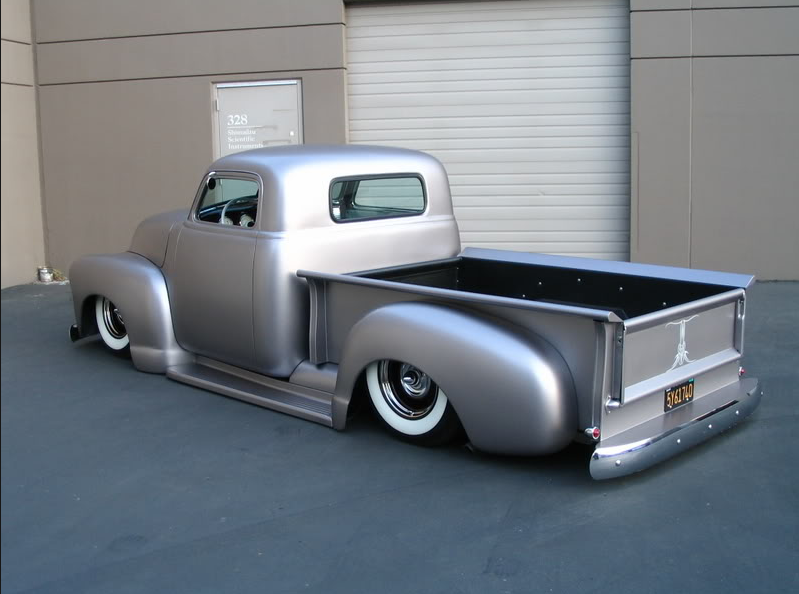 Satin Silver Looks Amazing On The Rounded Body Chevy Trucks 55