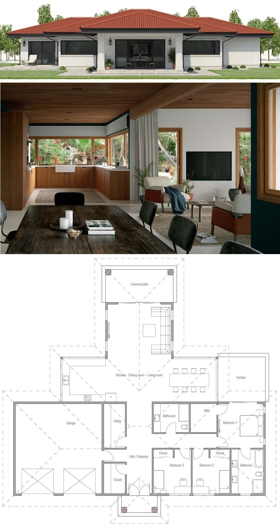 House Plan Ch561 Free House Plans House Construction Plan Beautiful House Plans