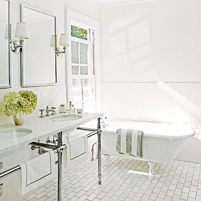Design Chic: Bathroom Flooring White Subway Tiles. Timeless And Always In  Style Part 3