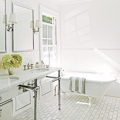 Bathroom Flooring Design Chic White Marble Bathrooms Classic