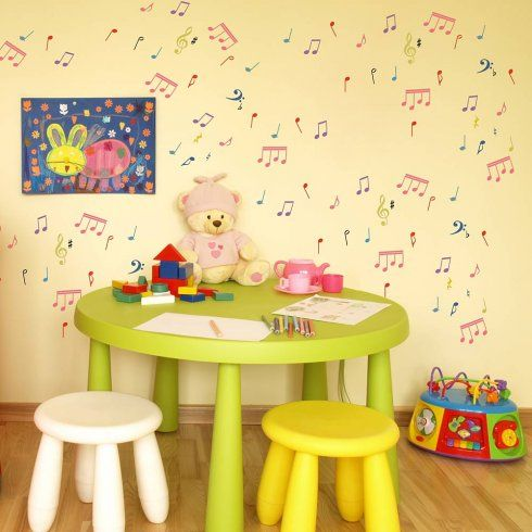 Musical Notes Wall Art Stencil from Cutting Edge Stencils is a ...