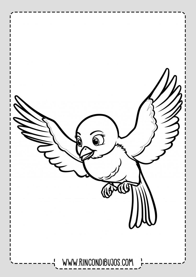Dibujo Pajaro Volando Colorear Rincon Dibujos En 2020 Pajaros Para Colorear Dibujos De Pajaro Paginas Para Colorear