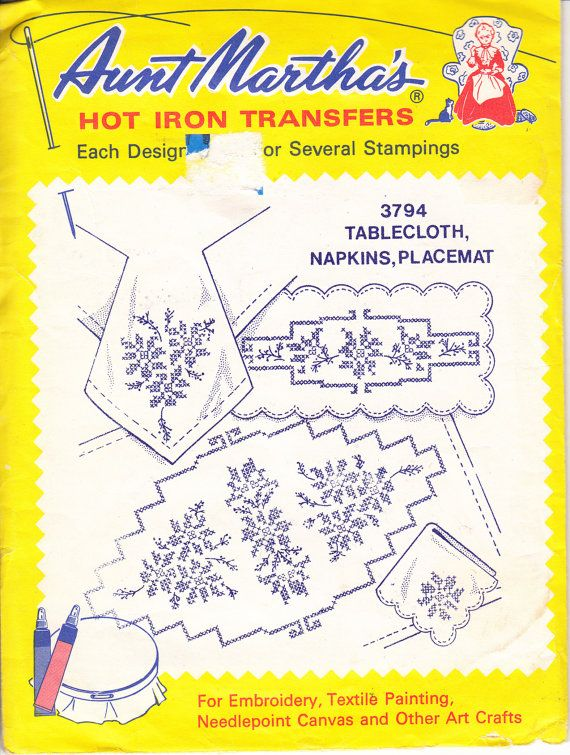 Vintage 60s EMBROIDERY Transfer Hot Iron On TRANSFERS, Embroidery ...