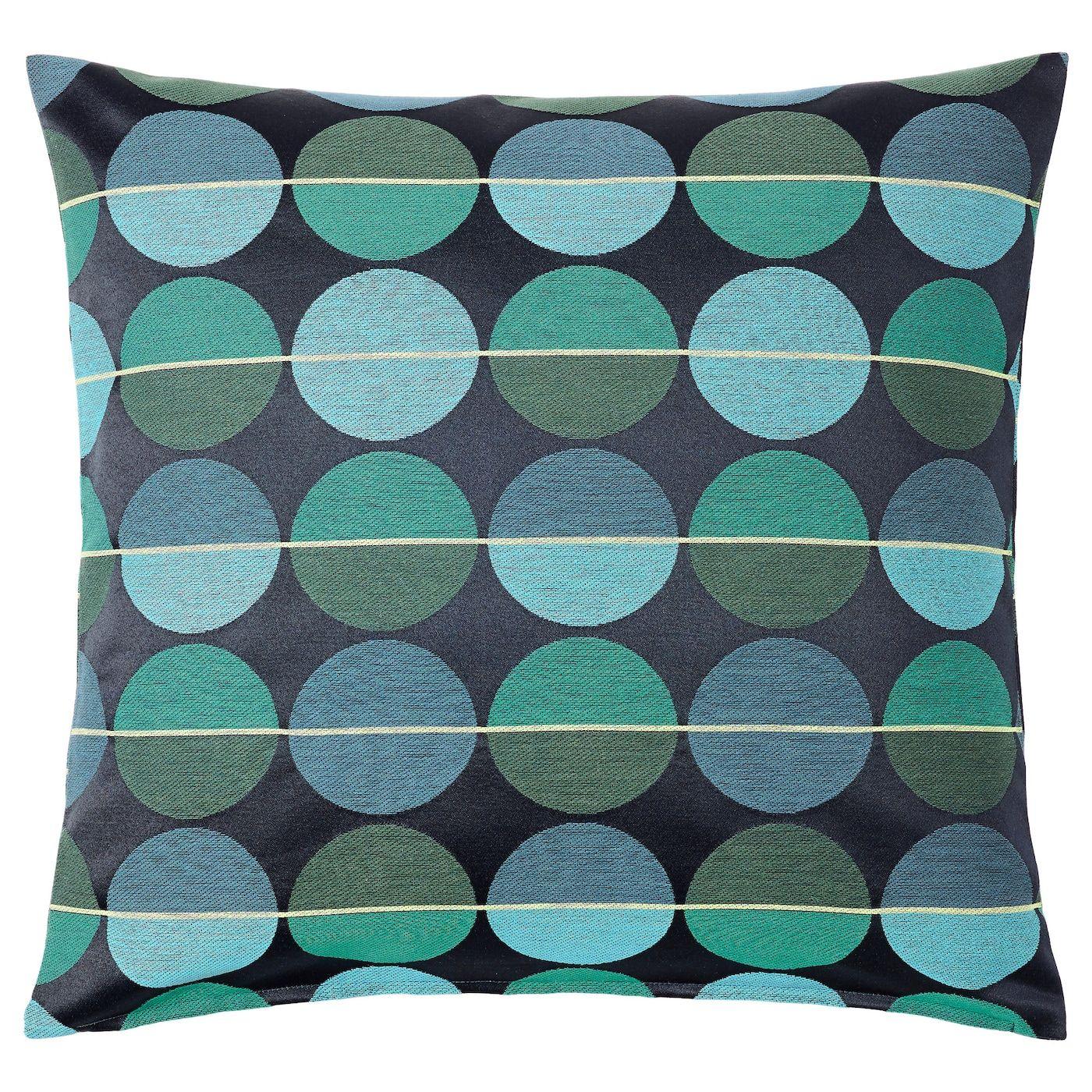 ottil cushion cover blue green ikea