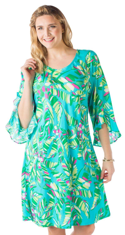 087dc947730 Plus Size 3 4 Sleeve Susan Dress - Escapada Living plus size resort wear