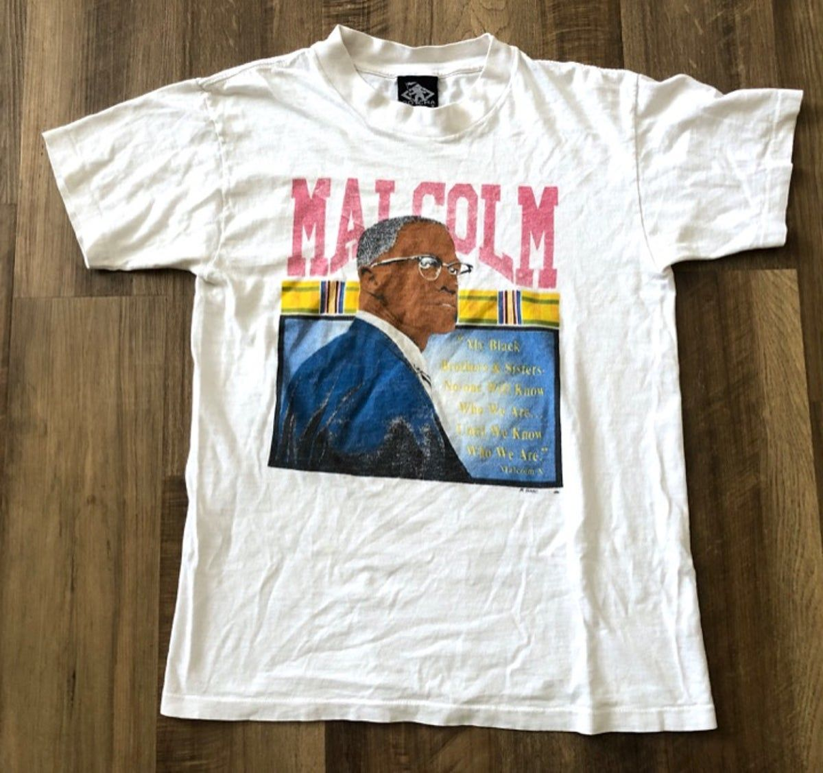 Vintage 90s Malcolm X T Shirt Gotcha S In 2020 Vintage Shirts T Shirt