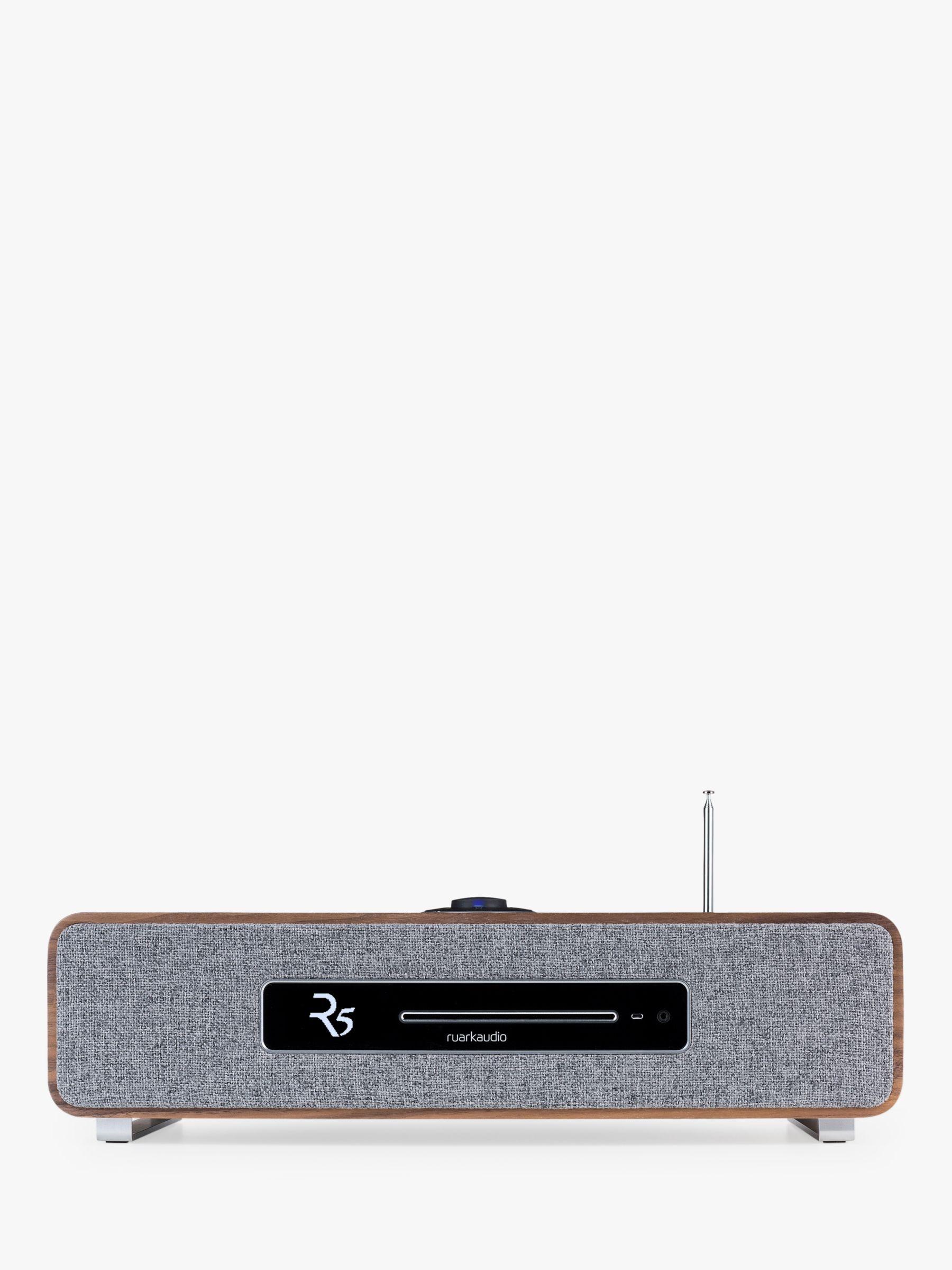 Ruark R5 DAB/DAB+/FM/Internet Radio & CD Bluetooth Wi-Fi Wireless All-In-One Music System, Rich Walnut