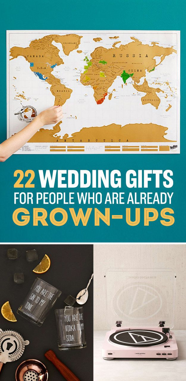 22 Wedding Gifts For Couples Who Already Have Their Shit Together