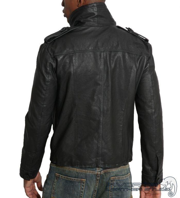 fcae16276 Мужская кожаная куртка - Striker (Страйкер) | скин,панк,металлист ...