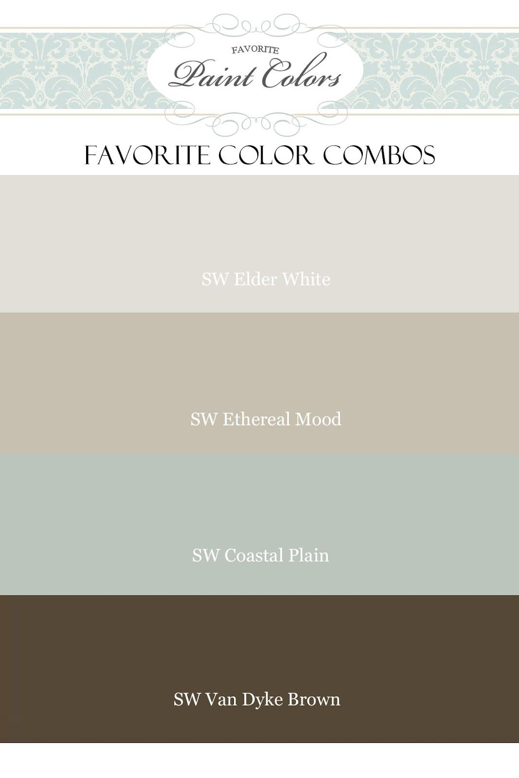 Fixer upper color schemes - Favorite Paint Colors Elder White Ethereal Mood Coastal Plain I Could Live Without Van Dyke Brown Sherwin Williams