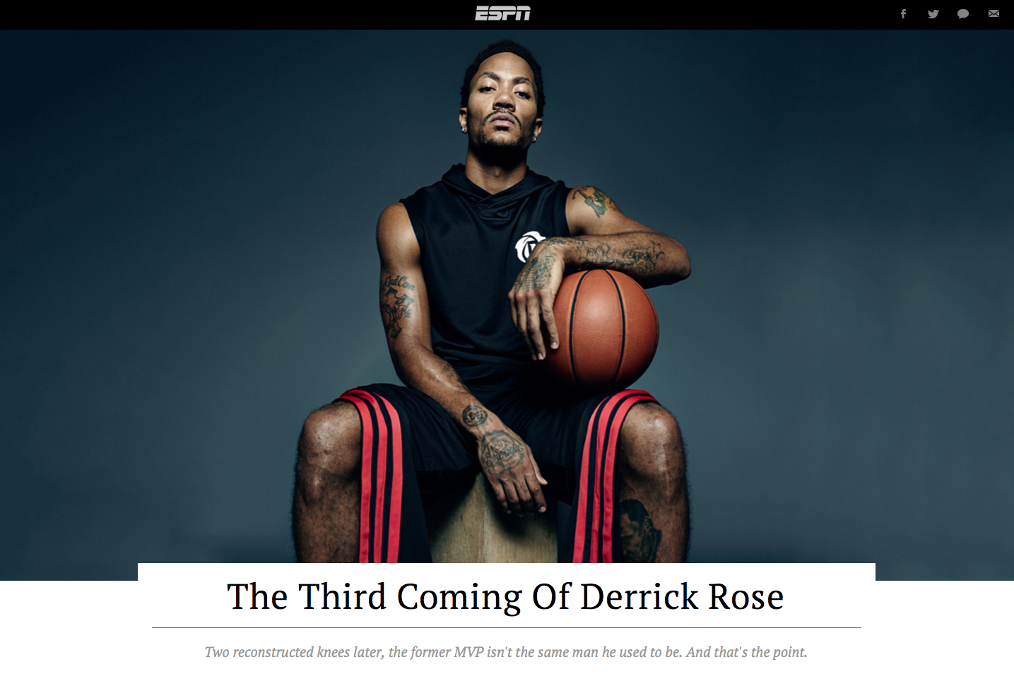 Pin by Heather D on Editorial Design | Derrick rose