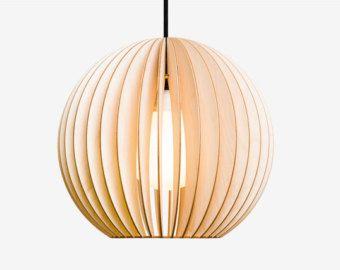 aion wood lamp wood pendant lights lampshade lamellen. Black Bedroom Furniture Sets. Home Design Ideas