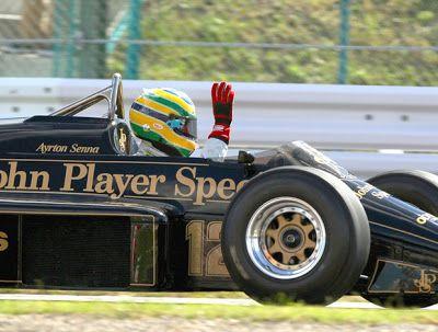 Bruno Senna with the Lotus of Ayrton Senna