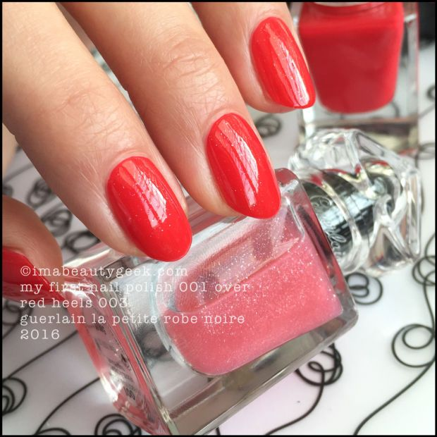 a10f14cf41e Guerlain My First Nail Polish over Red Heels – La Petite Robe Noire 2016