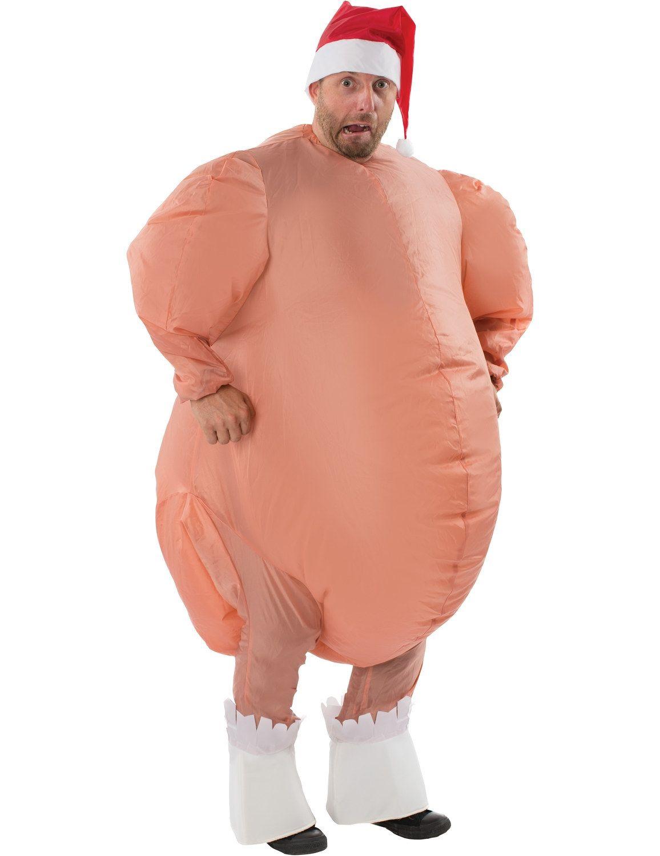 Adult Inflatable Christmas Roast Turkey Costume | Christmas roast ...