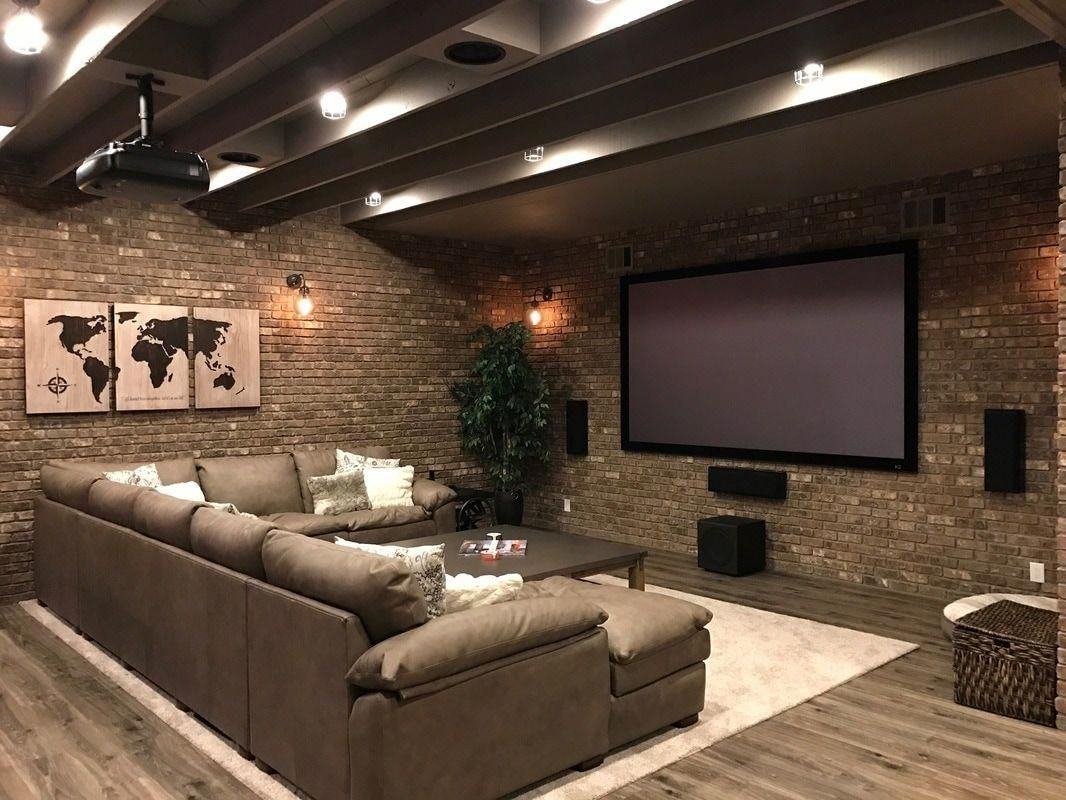 50 Basement Home Theater Design Ideas To Enjoy Your Movie Time With Family And Friends Godiygo Com Home Theater Design Basement Decor Basement Remodeling