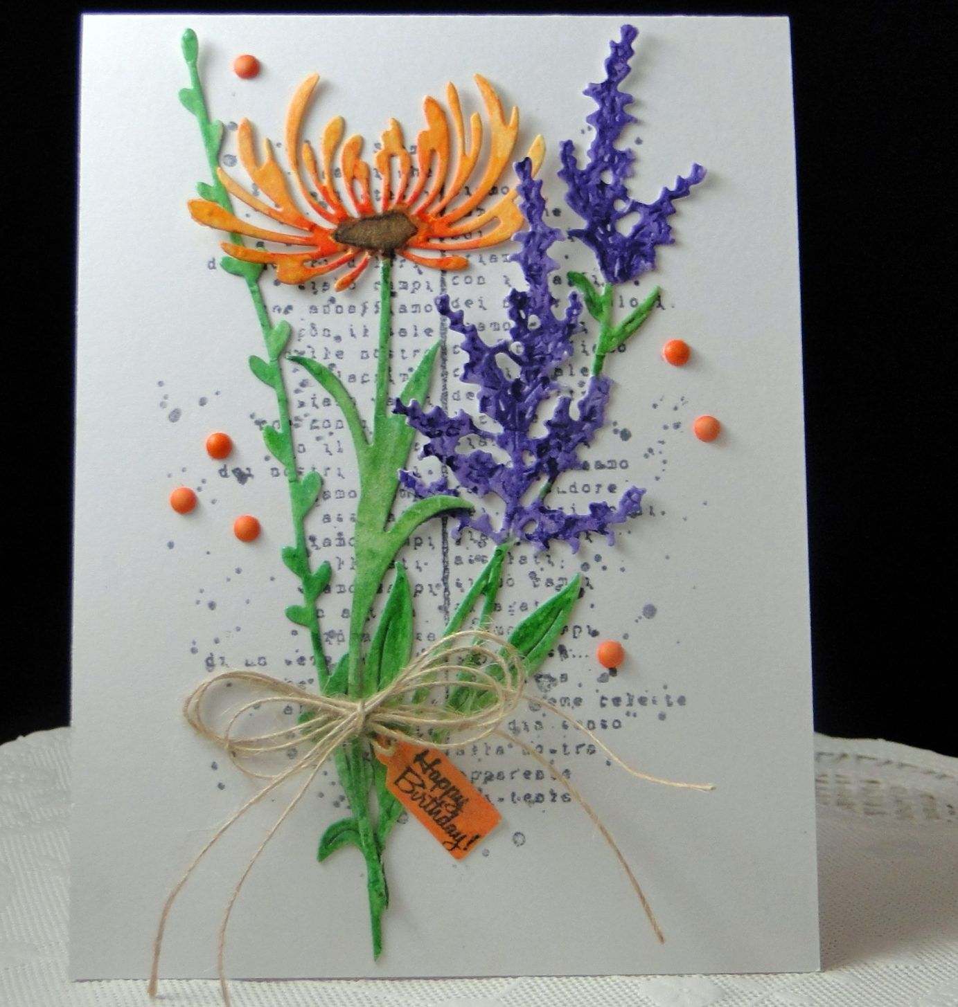 Floral Birthday Greeting Cards Handmade Flower Cards Floral Cards