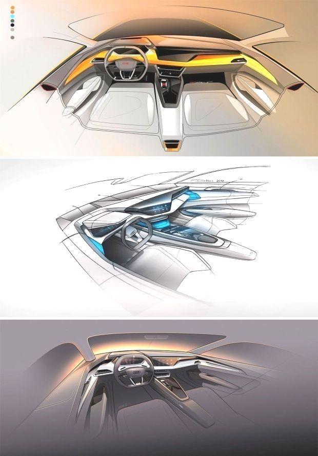 Audi e-tron GT Concept: In :         Audi e-tron GT Concept: Interior design sketches