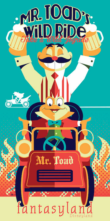 B2G1F Collector/'s Poster Print Vintage Disney 1955 Mr. Toad/'s Wild Ride