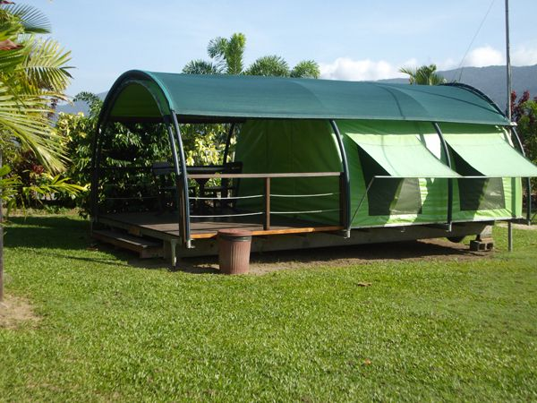Permanent Camping Shelters Outdoor Setting No Linen