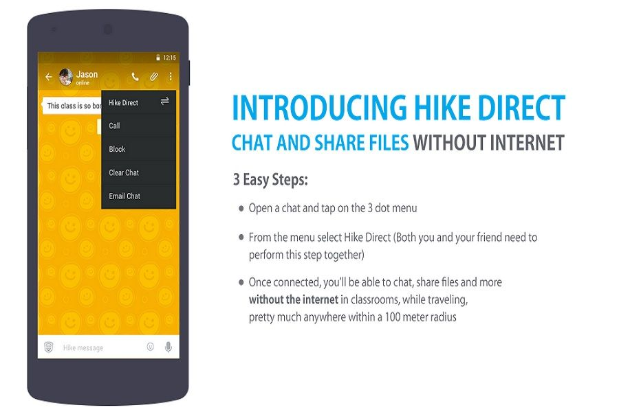 """Hike launches """"Hike Direct"""", A Feature Enabling Chat & File Sharing Without Internet!"""