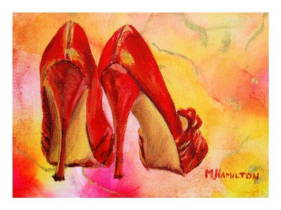 Red High Heels....What a beautiful painting