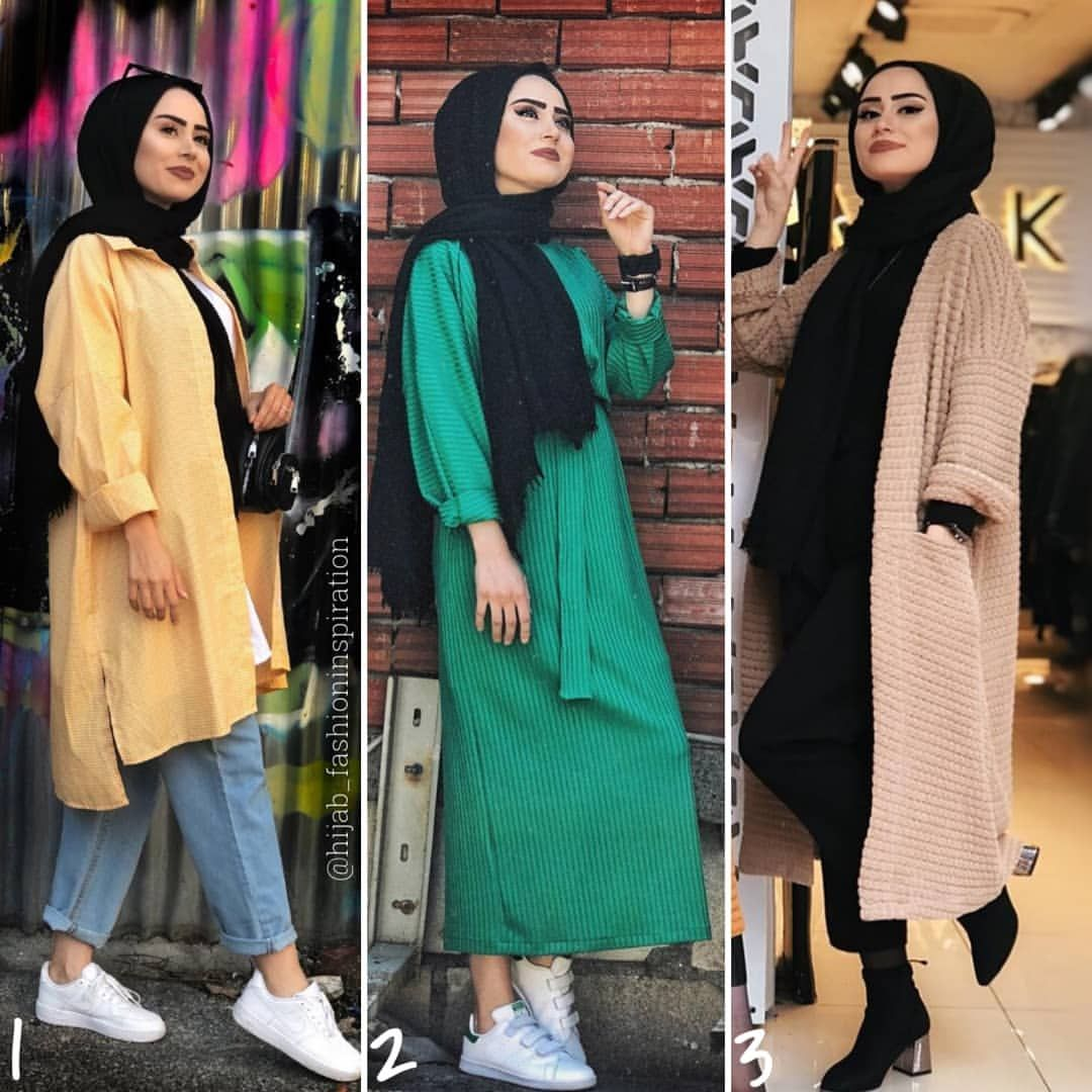 "Hijab Fashion Inspiration on Instagram: ""Which outfit do you like"