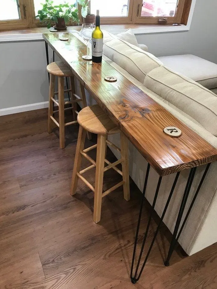12 Interesting Small Apartment Decorating Ideas On A Budget 3 In 2020 Wood Bar Table Diy Home Decor Projects Reclaimed Wood Bars