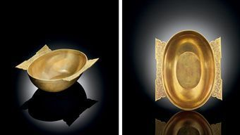 Very rare gold 'winged' cup. Western Han dynasty, 3rd-2nd century BC.