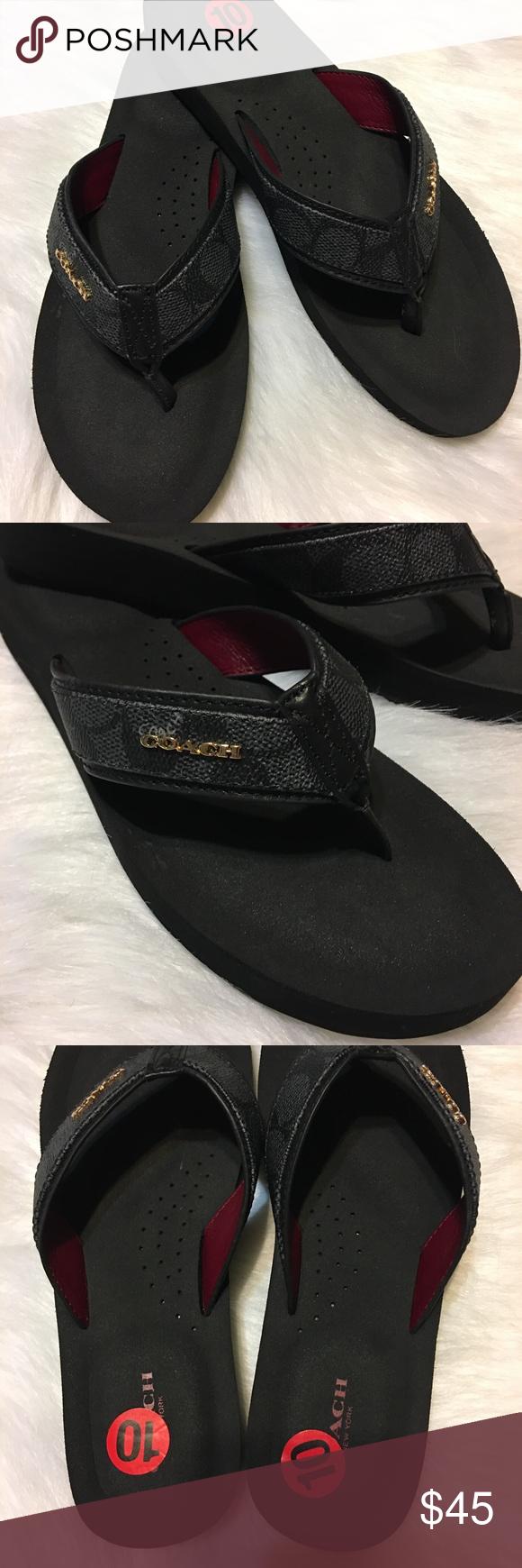 4f35cbb0b8b0 Coach Judy Flip Flop in Black Denim Black Coach Judy Flip Flop in  Black Denim Black. Size 10. NWOT. Never worn. Amazingly comfortable flip  flop in black.