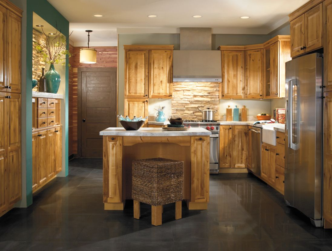 Rustic Birch Kitchen Cabinets - Kitchen Design Ideas