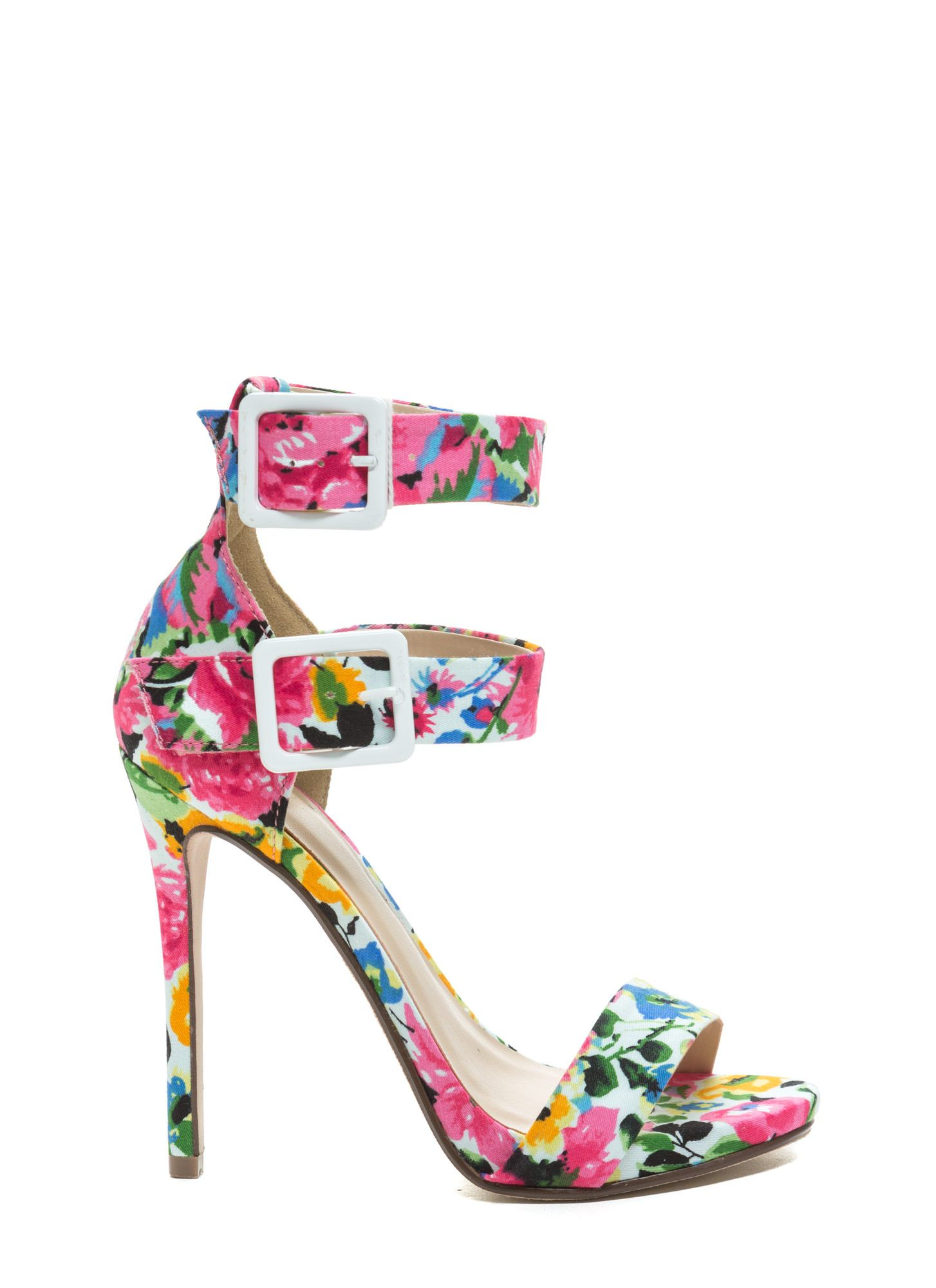 6dfaac537d8 One-Two Punch Floral Strappy Heels | Hello, heels... | Pinterest