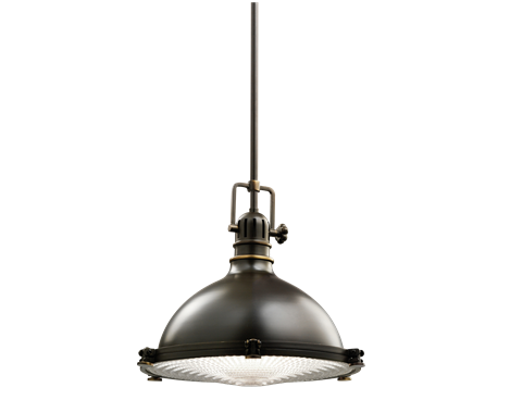 1 light pendant fixture with industrial styling in olde bronze kichler lighting pendant ceiling landscape light fixtures