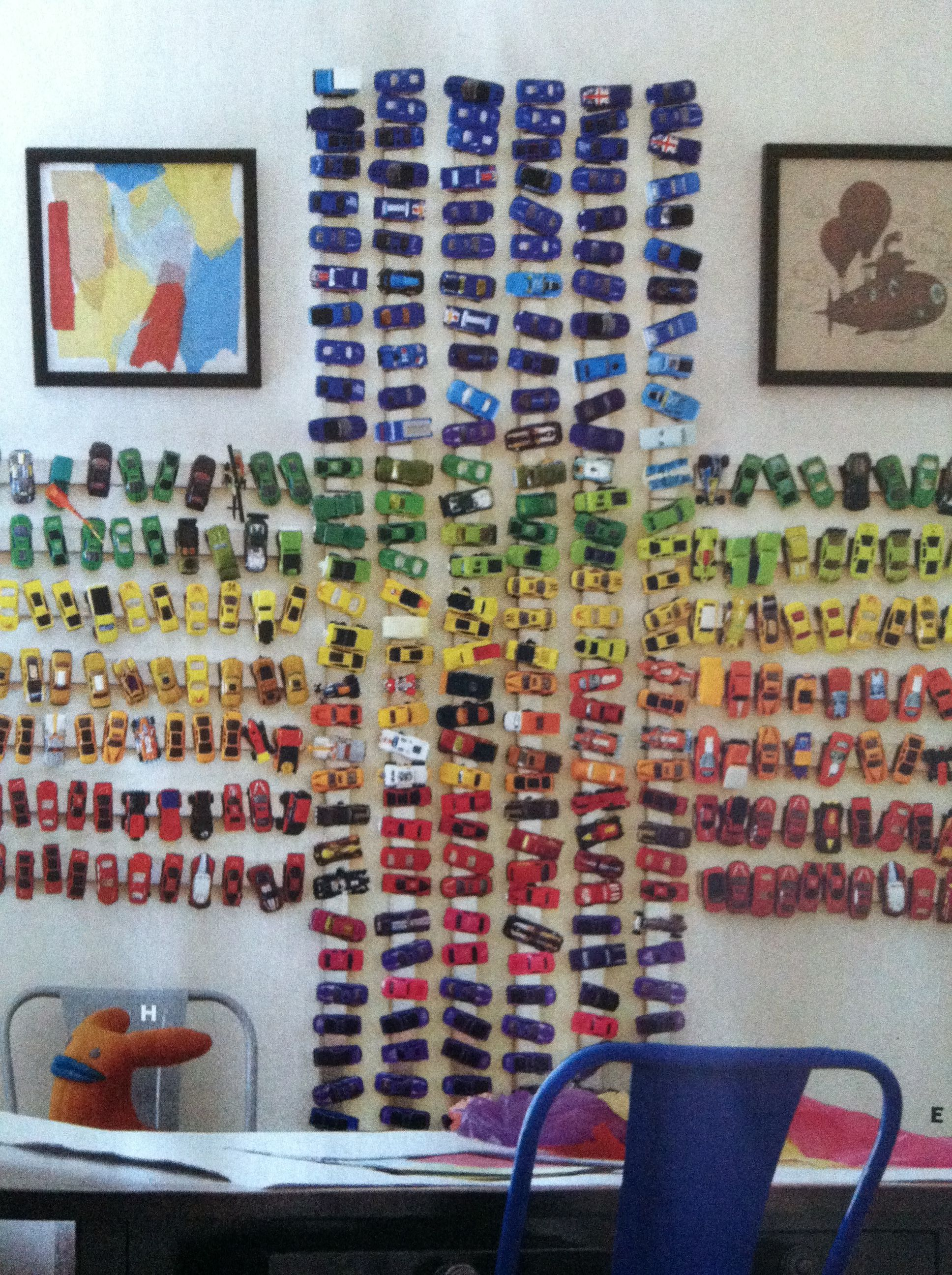 Hot Wheels On Magnetic Strips Car Roomkid