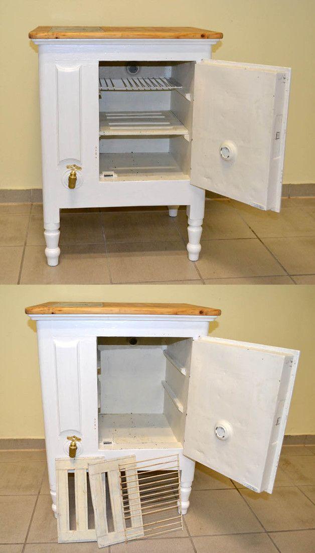 antiker Kühlschrank Eisschrank um 1900 Schrank closet