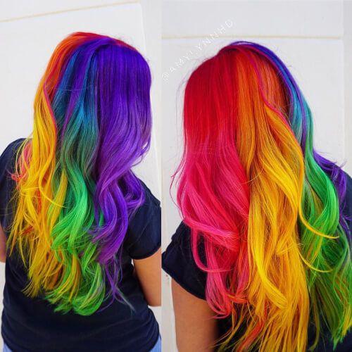 bright hair colors on pinterest bright hair rainbow hair and 29 stunning rainbow hair color ideas trending in 2020