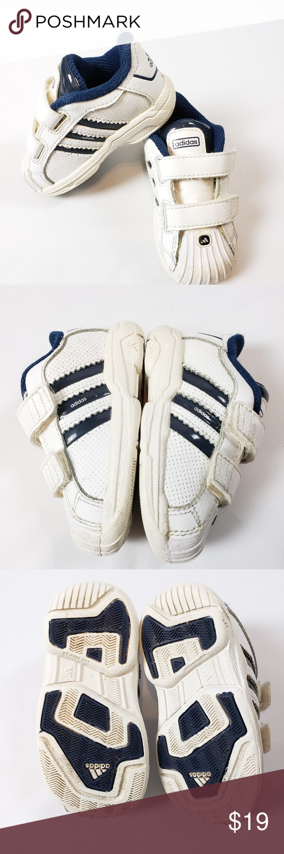 Infant Blue White Classic Unisex Sneakers