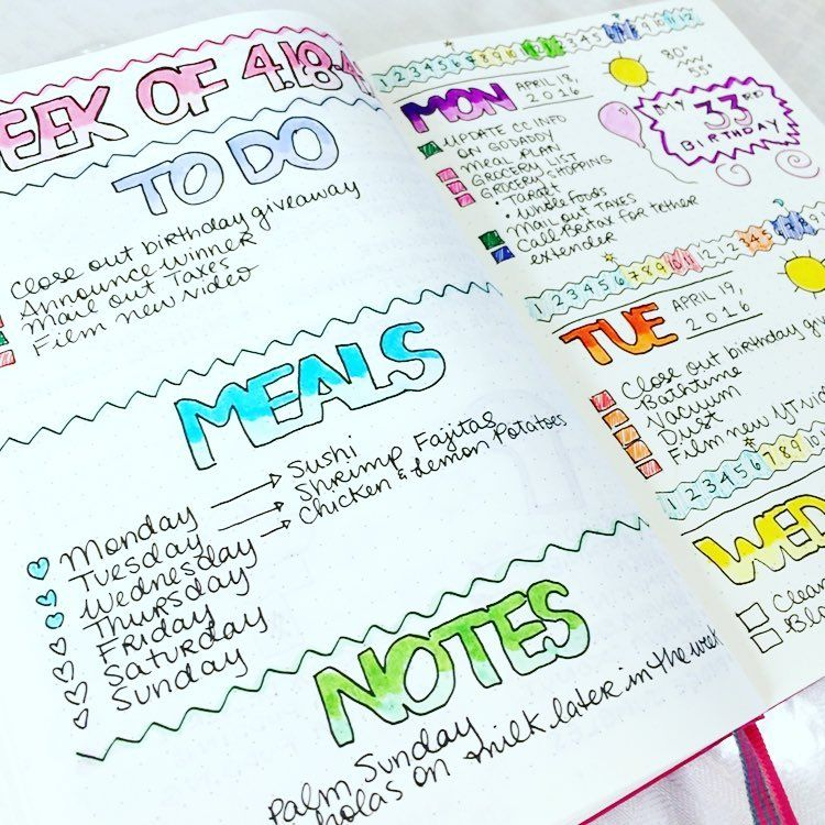 Midweek in my #bulletjournal featuring major inspiration from