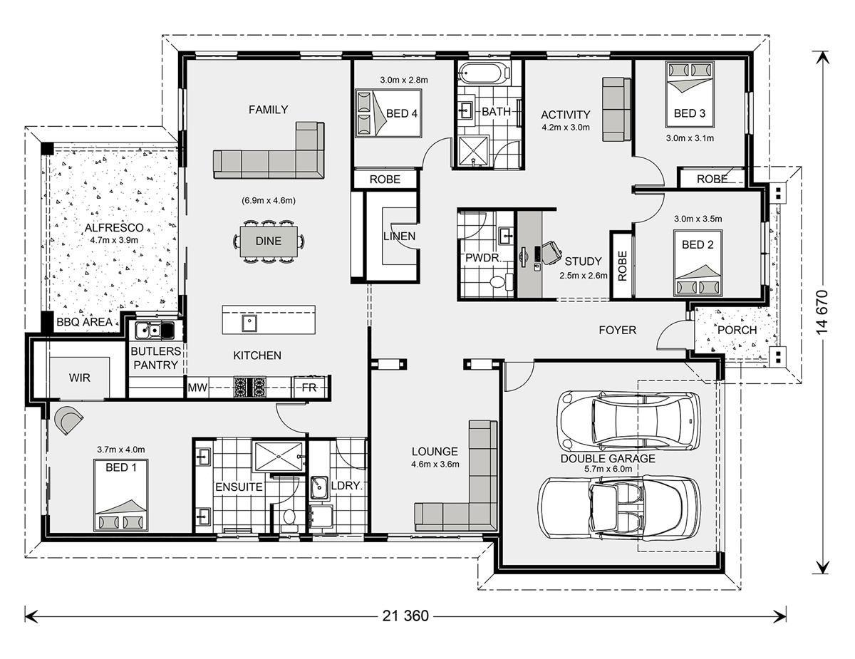 Forest Park 272 Home Designs In Coffs Harbour G J Gardner Homes Floor Plans Home Design Floor Plans House Design