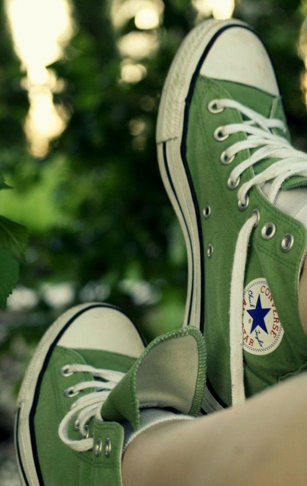 converse all star verde oliva