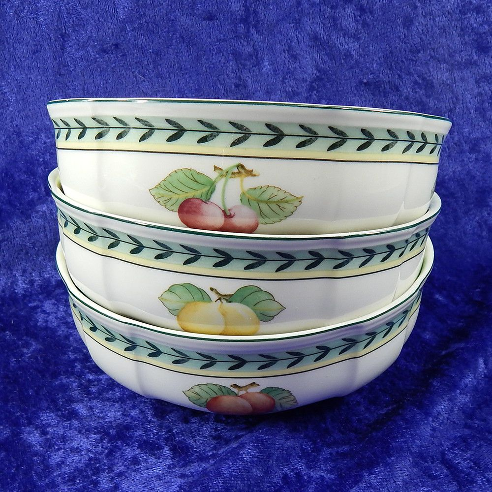 Fleurence Bowls French Garden Cereal And Of 3 Boch Villeroy 1748 Set E2WH9DI