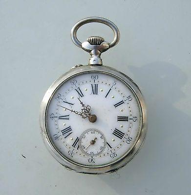 montre à gousset argenté