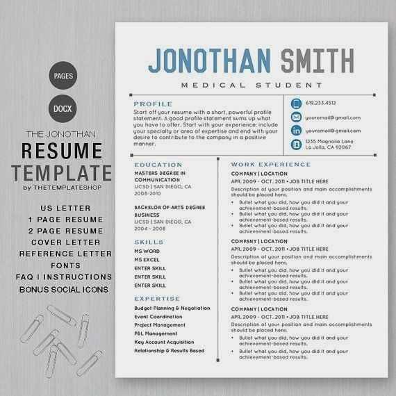 Creative Resume Templates for Mac & Apple Pages ٩(͡๏̯͡๏)۶ : Kukook ...