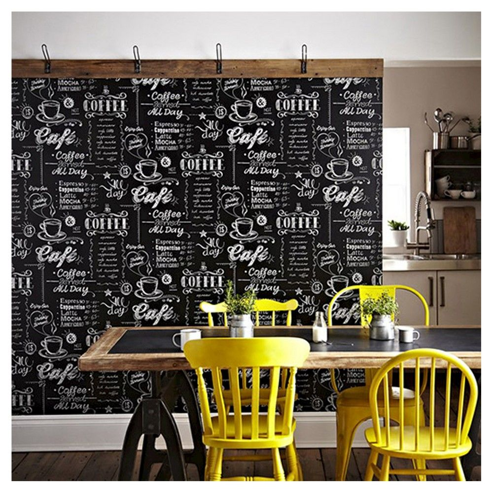 Expect More Pay Less Coffee Shop Design Black And White Wallpaper Coffee Shop